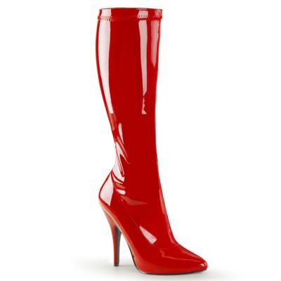 Roter Kniestiefel Lack mit High Heels