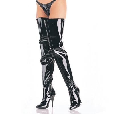 Overknee Stiefel schwarz mit Stilettoabsatz