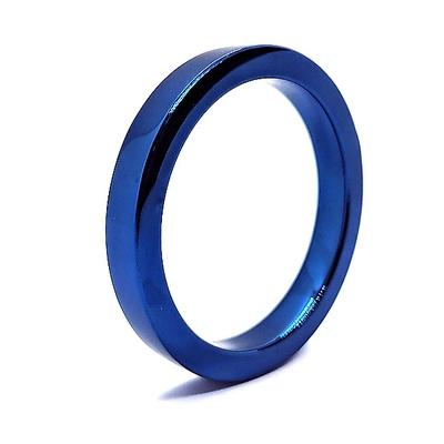 Edelstahl Cockring blau