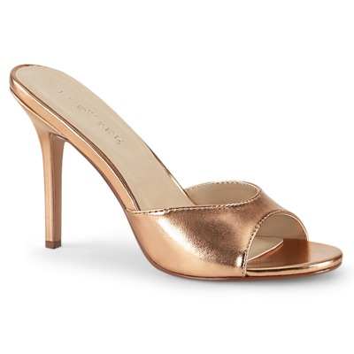 Peep Toe Slide CLASSIQUE-01 rose / gold
