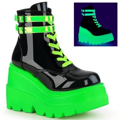 Neon Boots SHAKER-52 schwarz / neongrün