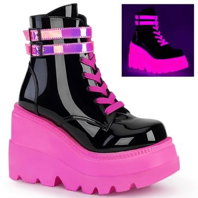 Neon Boots SHAKER-52 schwarz / neonpink