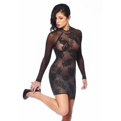 Transparentes Kleid mit langen Ärmeln