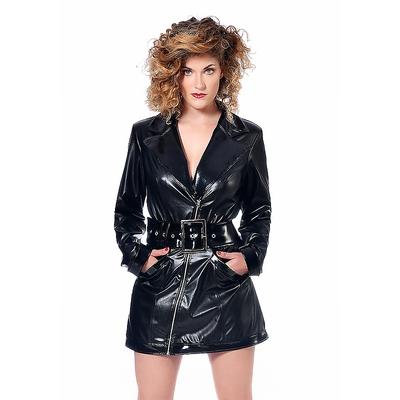 Mantelkleid aus Kunstleder