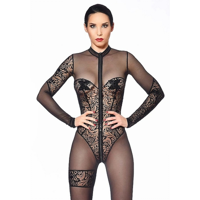 Transparentes Muster Catsuit