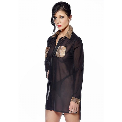 Transparentes Kleid Hemd