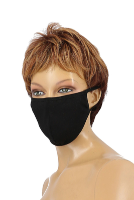 Mund Nasen Schutz Baumwolle schwarz