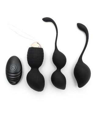 Vibro-Kugel-Set mit Fernbedienung schwarz