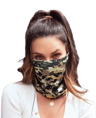 Stylisher Corona Masken-Schal Camouflage