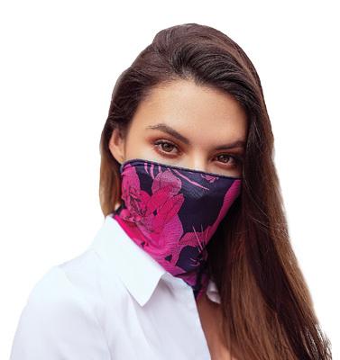 Masken-Schal Floral Print