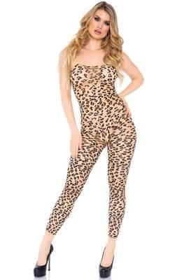 Fußloser Leopard-Catsuit