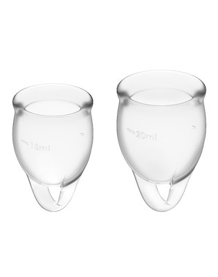 Menstruations Cup Set transparent