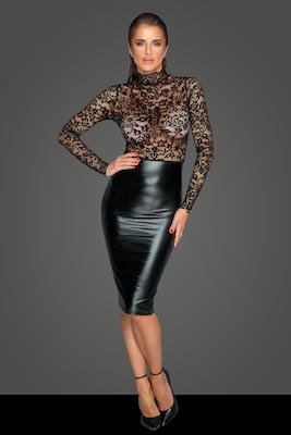 Midi Kleid mit weicher Spitze