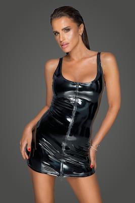 Lack Kleid mit 2-Wege Reißverschluss