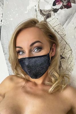 Alltagsmaske mit feinem Netz
