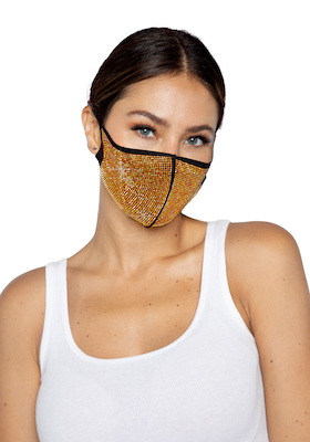 Mund-Nasen-Schutz mit Goldstrass