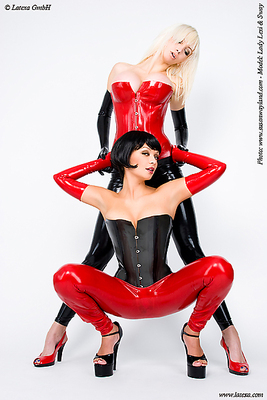 Latexleggings  für Frauen ouvert Latexa 1148A