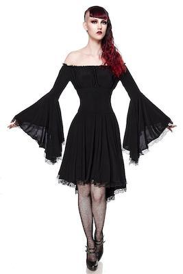 Gothic Jerseykleid