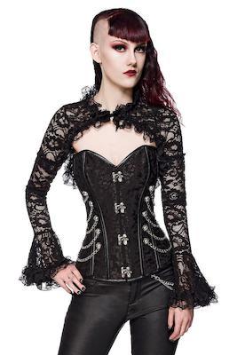 Gothic-Bolero aus Spitze