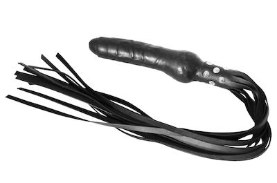 Latex Dildo Peitsche schwarz