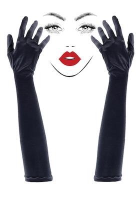 Lange Stoff Handschuhe