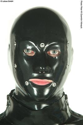 Anatom. Latexmaske mit Mund- und Augenklappe Latexa 1158B