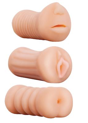 Dreierlei Masturbatoren Set