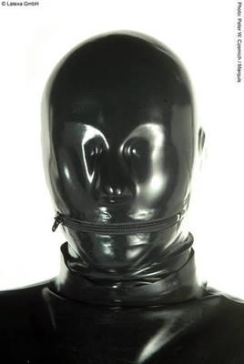 Anatom. Latexmaske mit Reißverschluss am Mund Latexa 1158E