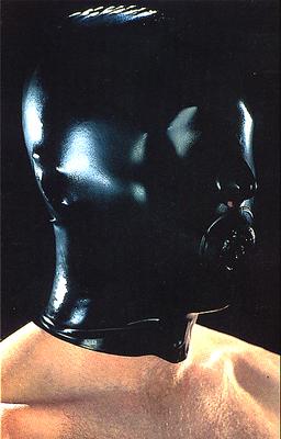 Latexmaske mit Innenknebel und Reißverschluss Latexa 1201Z