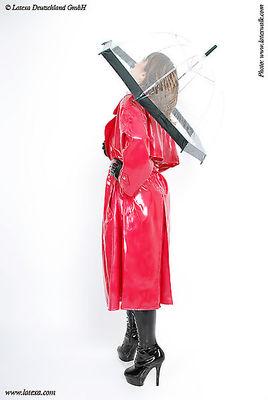 Genähter Latexmantel für Damen Latexa 3012D