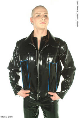 Latex-Cowboyjacke mit Kontrastfarbe Latexa 3036