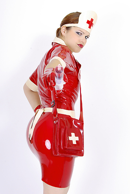 Latex-Krankenschwesterkleid Latexa 3059