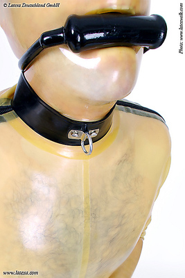 Männer Latexhalsband Latexa 3188