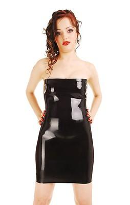 Latex-Kleid ohne Träger