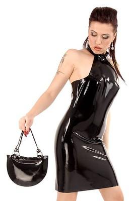 Latex-Handtasche