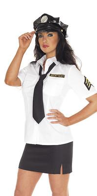 Polizei-Uniform & Hut 4-tlg.