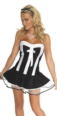 Kellnerinnen-Kostüm, 3-tlg. schwarz/weiß
