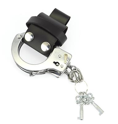 Handschellentasche Leder schwarz