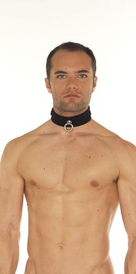 Velours-Halsband  mit Ring