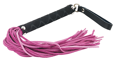 Peitsche Velours rosa