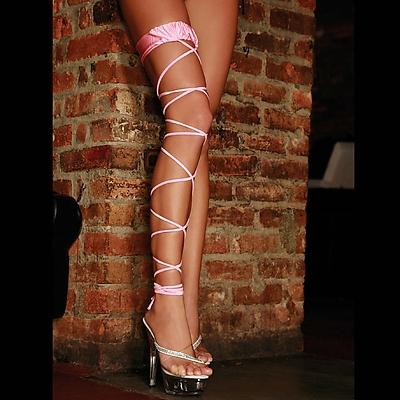 E.L. Twisted Leg Garter pink