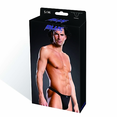 BLUE LINE Performance Microfiber Thong blk S/M
