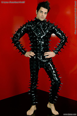 Latexganzanzug mit Spikes Latexa 3294