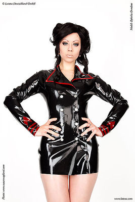 Latexjacke im Uniformstil Latexa 3254