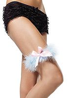 Marabou Garter With Satin Bow