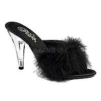10 cm High-Heel Sandale CARESS-401F schwarz