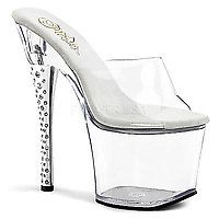 18 cm - 19 cm Heel DIAMOND-701 transparent/transparent