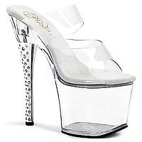 18 cm - 19 cm Heel DIAMOND-702 transparent/transparent