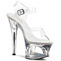 18 cm - 19 cm Heel MOON-708DM transparent/transparent