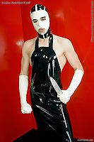 Latexmaske mit Kontrastfarbe Latexa 3094